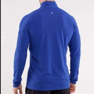 Lululemon Surge Half Zip blue long sleeve top